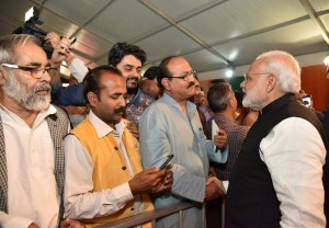 AIMF PRESIDENT MEET PM MODI JI AT BJP OFFICE